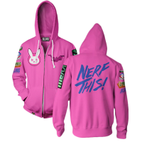 Overwatch - Ultimate D.Va Men's Zip-Up Hoodie