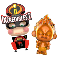 Incredibles 2 - Movbi & Jack-Jack Cosbaby 3.5-5 inch Hot Toys Bobble-Head Figure 2-Pack