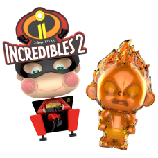 Incredibles 2 - Movbi and Jack-Jack Cosbaby 3.5-5 inch Hot Toys Bobble-Head Figure 2-Pack