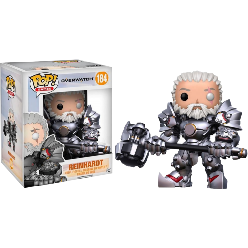 Overwatch - Unmasked Reinhardt 6 Inch Super Sized Pop! Vinyl Figure