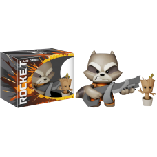 Guardians of the Galaxy - Rocket Raccoon with Potted Groot Super Deluxe 11 Inch Vinyl Figure