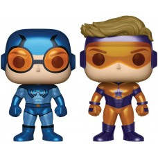 DC Comics - Blue Beetle and Booster Gold Metallic Pop! Vinyl 2-pack