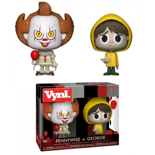 IT (2017) - Pennywise and Georgie Vynl. Vinyl Figure 2-Pack
