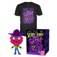 Rick and Morty - Neon Scary Terry Pop! Vinyl Figure and T-Shirt
