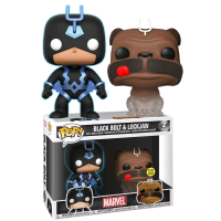 Inhumans - Black Bolt Glow in the Dark and Lockjaw Translucent Pop! Vinyl Figure 2-Pack