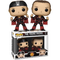 New Japan Pro Wrestling - The Young Bucks Bullet Club Pop! Vinyl Figure 2-Pack