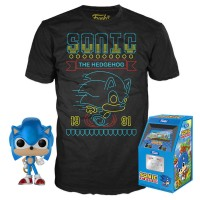 Sonic The Hedgehog - Neon Scary Run Pop! Vinyl Figure and T-Shirt