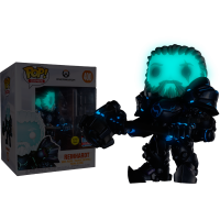 Overwatch - Coldhardt Reinhardt Glow in the Dark 6 Inch Super-Sized Pop! Vinyl Figure (2018 Fall Convention Exclusive)