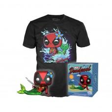 Pop! Marvel Collectors Box: Deadpool Mermaid Pop! and Tee