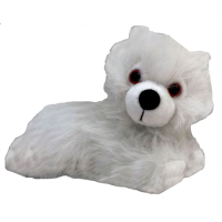 Game of Thrones - Prone Ghost Direwolf Cub Plush