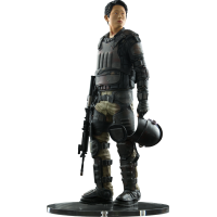 The Walking Dead - Glenn in Riot Gear Statue