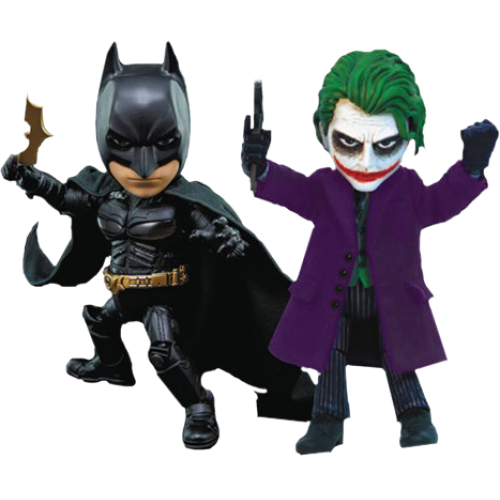 Batman The Dark Knight Batman And Joker 2 Pack Hybrid Metal Figuration Box Set