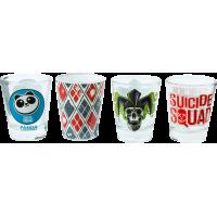 Suicide Squad - Logo Shot Glass 4-Pack