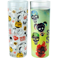 Suicide Squad - Skulls and Pattern Tumbler 2-Pack