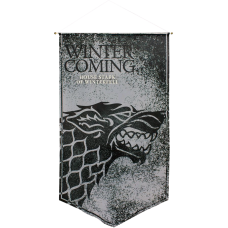 Game of Thrones - Stark Winter is Coming Satin Banner