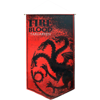 Game of Thrones - Targaryen Fire and Blood Satin Banner