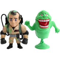 Ghostbusters - Peter Venkman and Slimer 4 inch Metals Die-Cast Action Figure 2-Pack