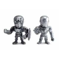 Captain America: Civil War - Iron Man and Captain America 4 inch Metals Die-Cast Bare Metal Action Figure 2-Pack (2016 Convention Exclusive)