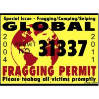 Fragging Permit Sticker
