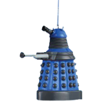 Doctor Who - 2.5 Inch Dalek (Blue) Blow Mold Xmas Ornament