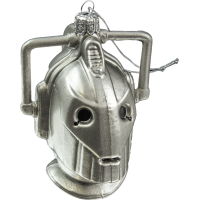 Doctor Who - Cyberman 4.25 Inch Glass Christmas Ornament