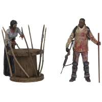 The Walking Dead - TV Series - Morgan with Impaled Walker and Spike Trap 7 inch Action Figure