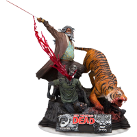 The Walking Dead - Ezekiel and Shiva 13 Inch Diorama Statue