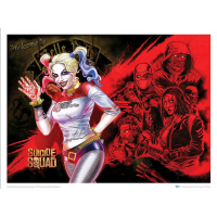 Suicide Squad - Harley Quinn's Heroes Art Print (24x18 inch )