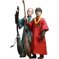 Harry Potter - Harry and Draco Quidditch 1/6th Scale Action Figure Twin Pack