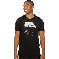 The Witcher 3: Wild Hunt - Wolf Silhouette Premium T-Shirt