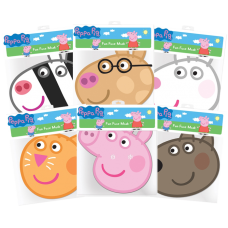 Peppa Pig - Peppa Pig and Friends Party Masks 6-Pack