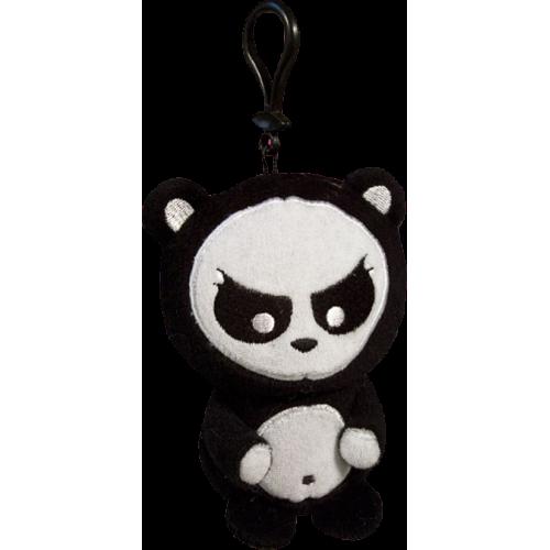 Angry Panda - Clip On Plush