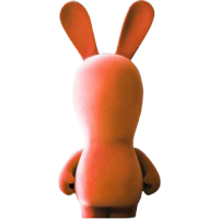 Raving Rabbids - 11 Inch Orange Velvet Rabbid
