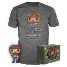 POP! Movies Collectors Box: Chuck Norris POP! and Tee - Gray (Exclusive)