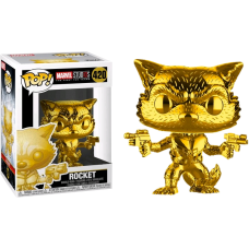 Marvel Studios: The First Ten Years - Rocket Raccoon Gold Chrome Pop! Vinyl Figure