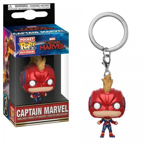 Captain Marvel (2019) - Masked Captain Marvel Pocket Pop! Keychain