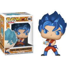 Dragon Ball Super - SSGSS Goku Kamehameha Metallic Pop! Vinyl Figure