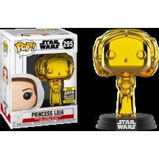 Star Wars - Princess Leia Gold Chrome Pop! Vinyl Figure (2019 Galactic Convention Exclusive)