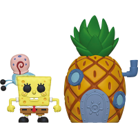 SpongeBob Squarepants - SpongeBob Squarepants with Pineapple House Pop! Town Vinyl Figure