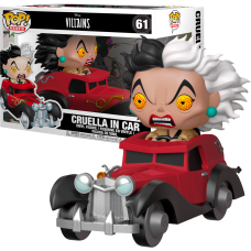 101 Dalmatians - Cruella De Vil in Car Pop! Rides Vinyl Figure