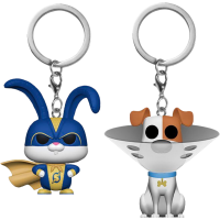 The Secret Life of Pets 2 - Snowball in Superhero Suit & Max with Cone Pocket Pop! Vinyl Keychain 2-Pack
