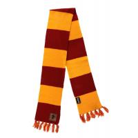 Harry Potter - Gryffindor Patch Striped Scarf