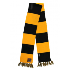 Harry Potter - Hufflepuff Patch Striped Scarf