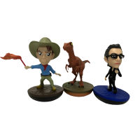 Jurassic Park - Series 1 Revos 4 inch Vinyl Figure Bundle (Set of 3)