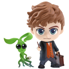 Fantastic Beasts 2: The Crimes of Grindelwald - Newt Scamander & Bowtruckle Cosbaby 3.75 Inch Hot Toys Bobble-Head Figure 2-Pack