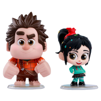 Ralph Breaks the Internet - Wreck-It Ralph and Vanellope von Schweetz Cosbaby Hot Toys Bobble-Head Figure Collectable 2-Pack