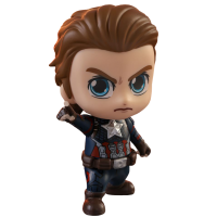 Avengers 4: Endgame - Captain America Unmasked Cosbaby 3.75 inch Hot Toys Bobble-Head Figure