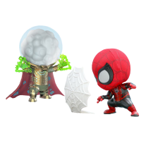 Spider-Man: Far From Home - Spider-Man & Mysterio Cosbaby 3.75 inch Hot Toys Bobble-Head Figure 2-Pack