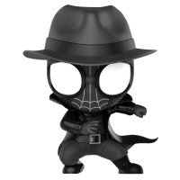 Spider-Man: Into the Spider-Verse - Spider-Man Noir Cosbaby Hot Toys Bobble-Head Figure