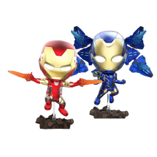 Avengers 4: Endgame - Iron Man Mark LXXXV (85) and Rescue Light-Up Cosbaby Hot Toys Bobble-Head Figure 2-Pack
